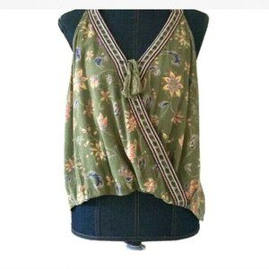 Hollister wrap front sleeveless top size S